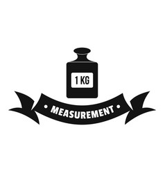 One kg logo simple black style vector