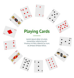 poker playing cards full deck banner card circle vector image