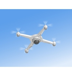 Remote air drone with camera vector image