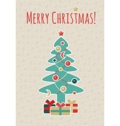 Retro Christmas Postcard vector