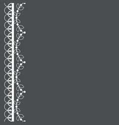 retro lace pattern greeting card design vector image