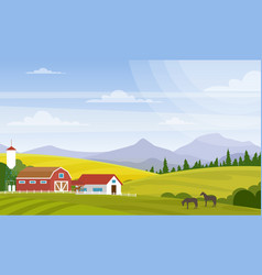 rural landscape beautiful vector image