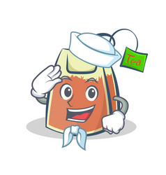 Sailor tea bag character cartoon vector