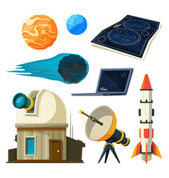 science astronomy pictures set various vector image