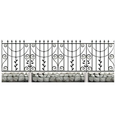 Seamless metale fence design vector