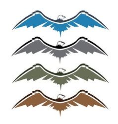 set native american eagles vector image