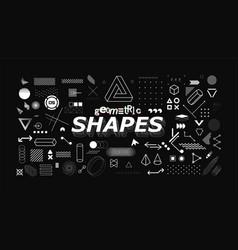 set neo memphis geometric shapes vector image