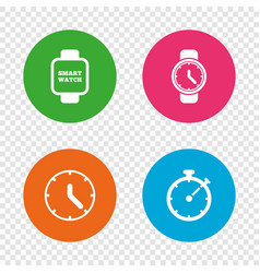 smart watch mechanical clock time and timer vector image