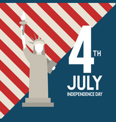 statue liberty usa july 4 th independence day vector image