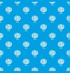steak pattern seamless blue vector image