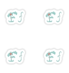 Stiker Abstract letter F logo icon in Blue vector