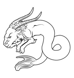 stylized sea goat vector image