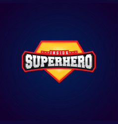 super hero power full typography t-shirt graphics vector image