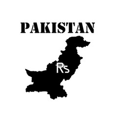 Symbol of isle of pakistan and map vector