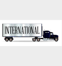 truck tractor unit and trailer with international vector image