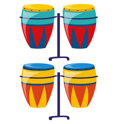 two set of colorful drum vector image