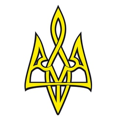 Ukrainian national emblem stylized design vector
