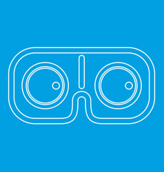 Vr glasses icon outline style vector