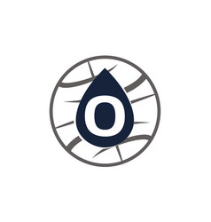 Water oil world letter o vector