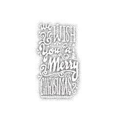 We wish you a merry christmas- hand-lettering vector
