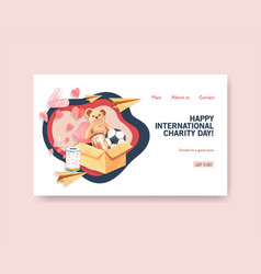 website template with international day vector image