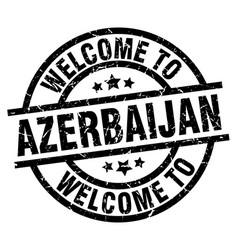 welcome to azerbaijan black stamp vector image