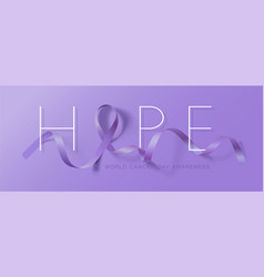 world cancer day calligraphy poster design hope vector image