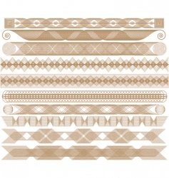 brown edges vector image