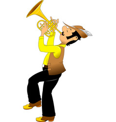 cheerful trumpeter vector image vector image