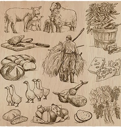 Life on the farm Farming Hand drawn pack vector image