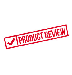 Product review rubber stamp vector