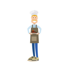baker in flat style vector image