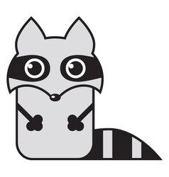 cartoon raccoon vector image vector image
