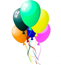 colourful balloons with glare vector image vector image