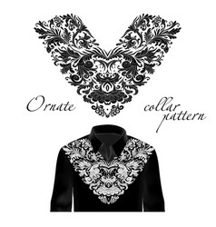 design for collar shirts shirts blouses vector image vector image