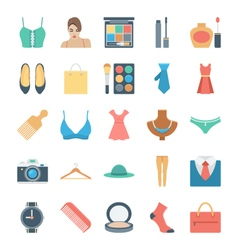 Fashion and Clothes Icons 1 vector image vector image