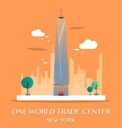 one world trade center vector image