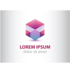 abstract geometric crystal logo for company vector image vector image