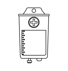 Blood bag icon image vector