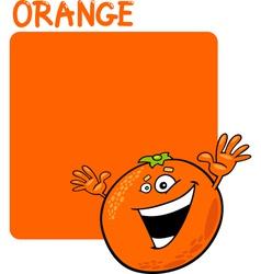 Color Orange and Orange Fruit Cartoon vector image vector image