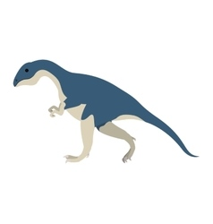 colorful cartoon with dinosaur allosaurus vector image