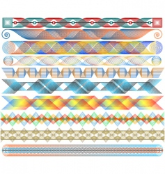 colorful strips vector image