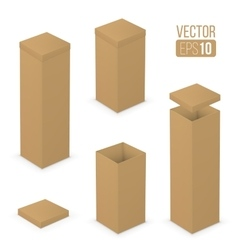 Open boxes vector image
