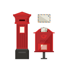 red pos boxes vector image vector image