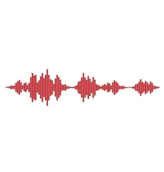 Red Sound waves vector image vector image