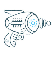 space laser ray gun toy icon vector image