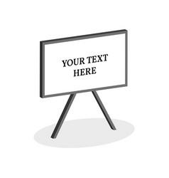 whiteboard symbol flat isometric icon or logo 3d vector image