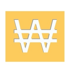 yellow square shape with currency symbol of south vector image