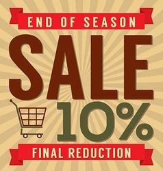 10 percent end of season sale vector