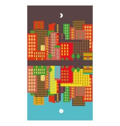 Cityscape day and night vector image vector image